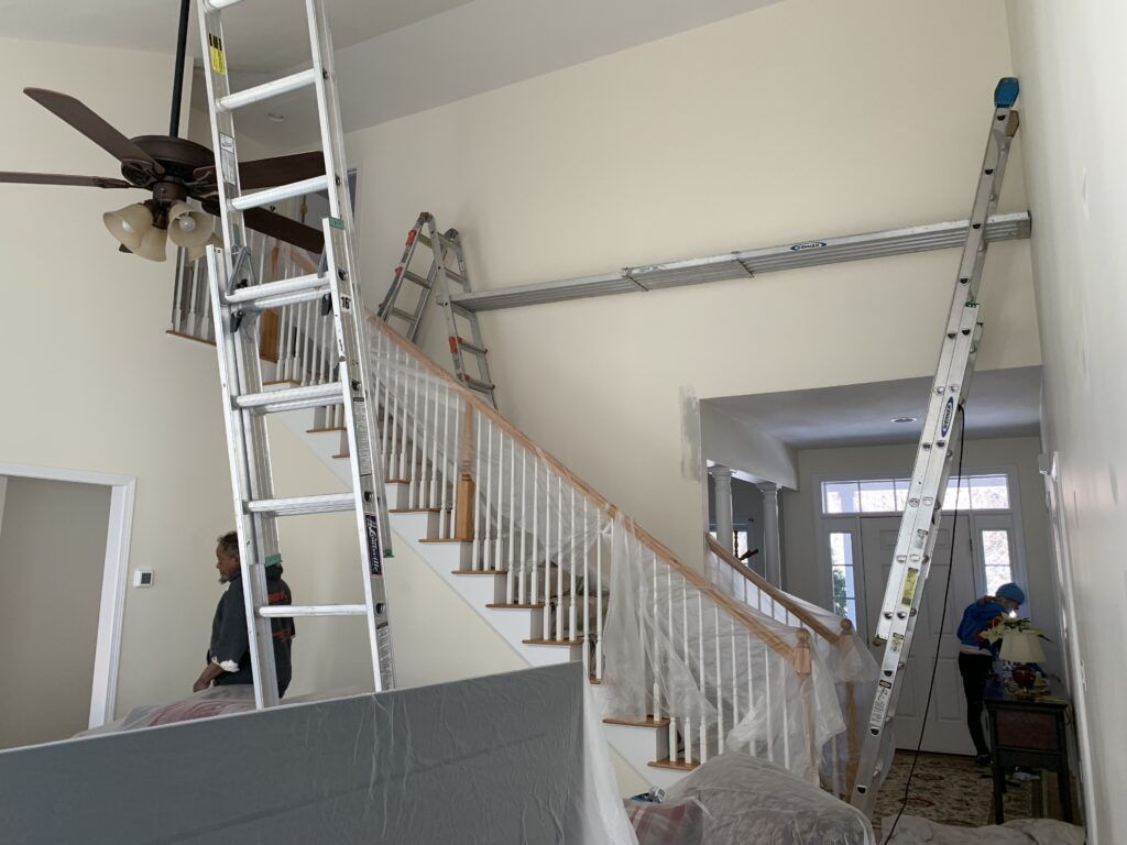 Baird Home Solutions, setting up to paint