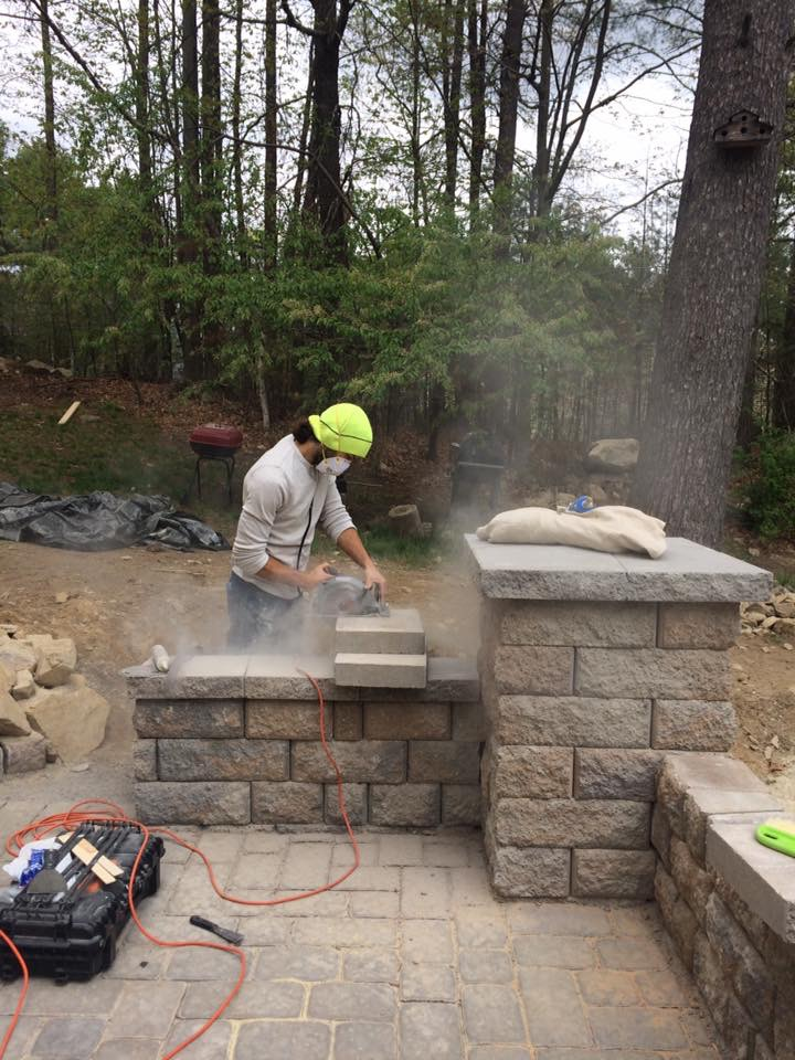 Baird Home Solutions - Stonework and Patio going in