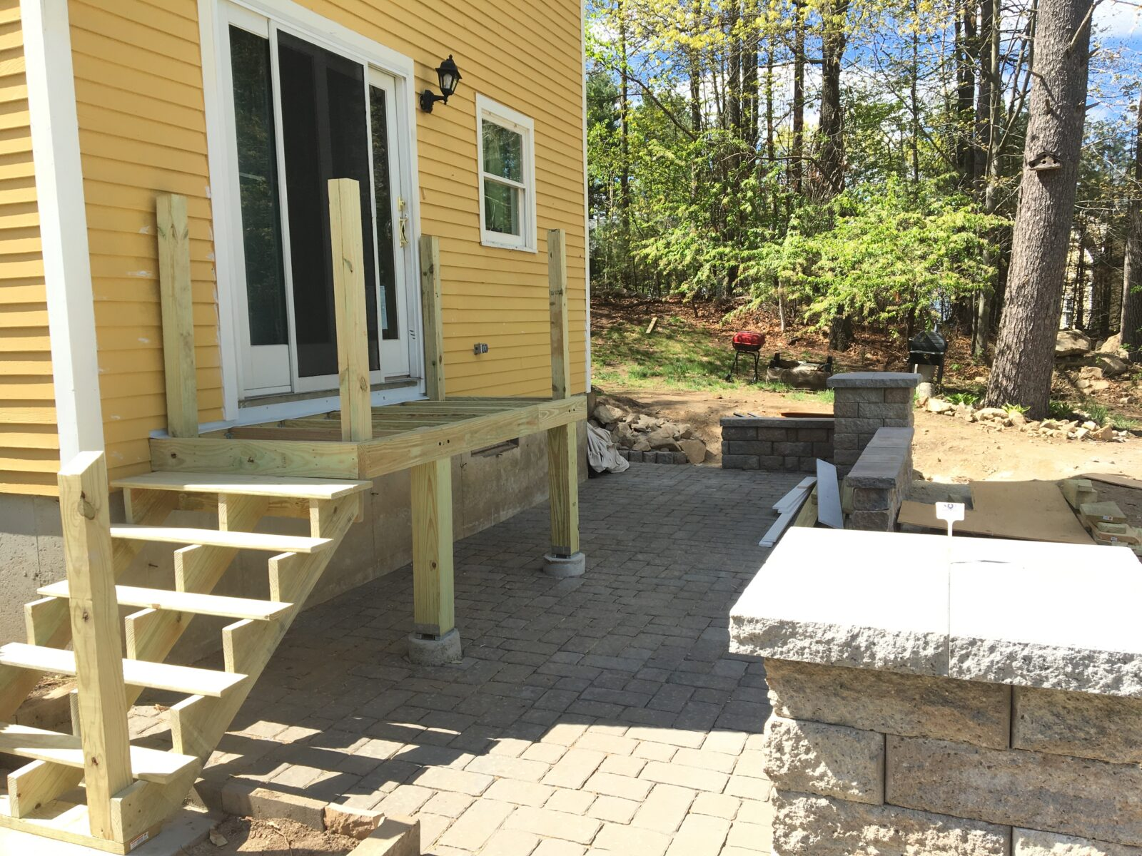 Baird Home Solutions - New Deck and steps ready for railing