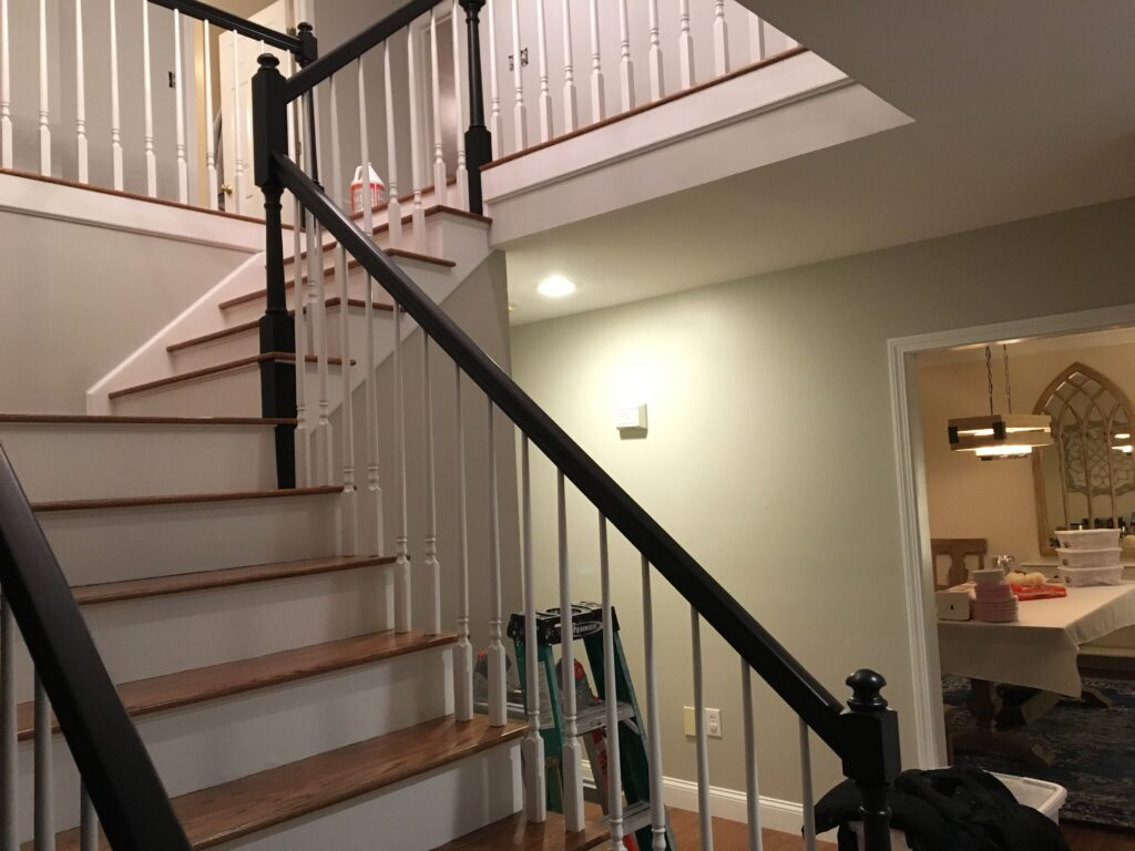 Baird Home Solutions - Interior Painting include repaint and repair staircase